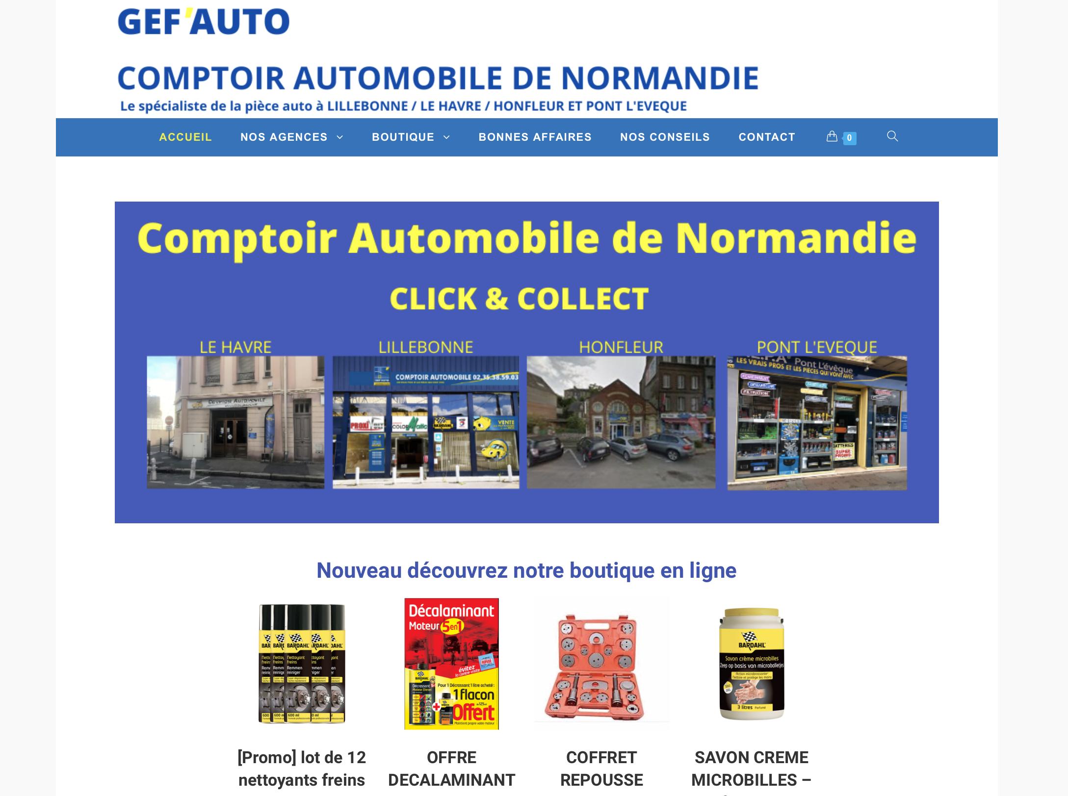 Comptoir Auto de Normandie : le nouveau site web