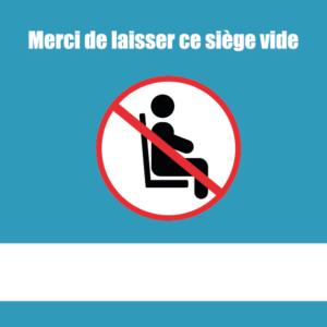 Sticker spécial espace publique Covid 19