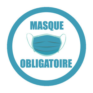 Sticker rond masque obligatoire 30 ex.