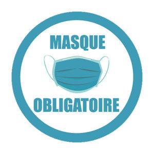 Sticker rond masque obligatoire 20 ex.