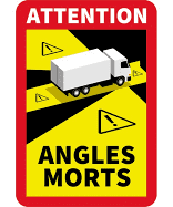 "Adhesif ""Angles morts "" CAMION 2021 17 x 25 cm x 3 ex."